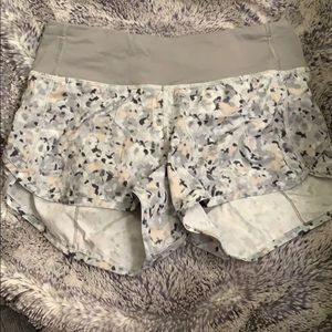 NWOT Lululemon Grey Running Shorts